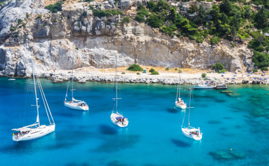 [Photo: Paradise Bay Rhodes Dodecanese   Asterion Sailing ]